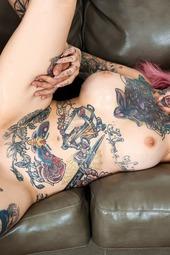 Busty Tattooed Slut Having Sex