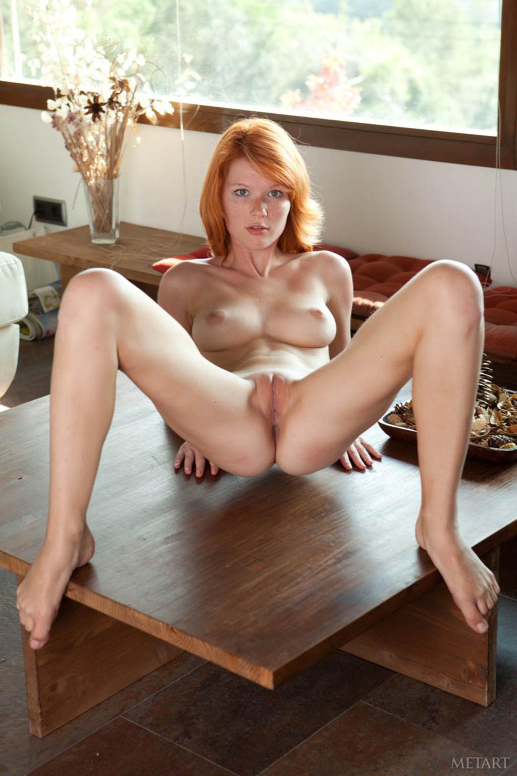 shaved redhead mia sollis spreading   picture 4 12 babeimpact