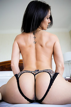 Samia Duarte Strips On A Bed