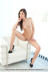 Beauty Caprice Removes Her Tight Black Dress