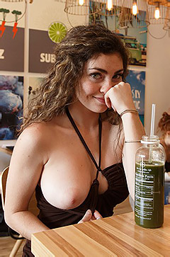 Gillian Barnes Flashing Her Big Boobs In Public