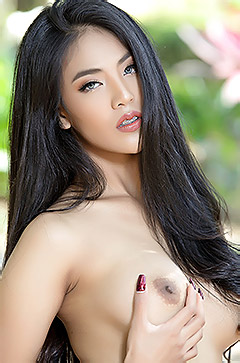 Hot Asian Brunette Babe Arya